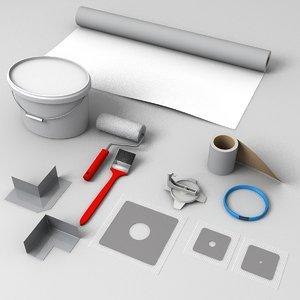 3D tools stuff drain model