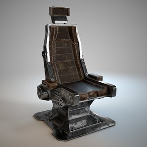 3D model scifi chair