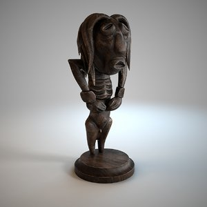 tribal statue 3D