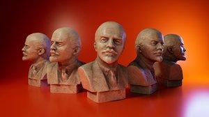 3D sculpture lenin model
