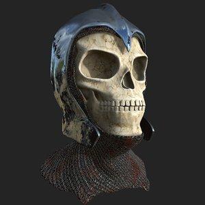 3D skull helmet model
