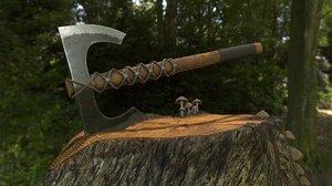3D battle axe pbr