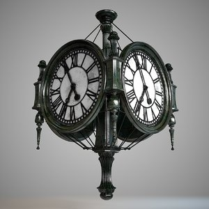 3D trainstation clock