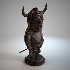 tribal statue model