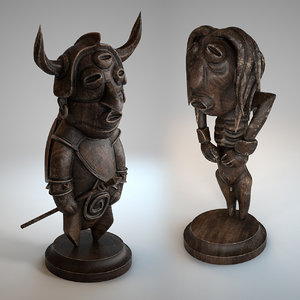 3D tribal statues model