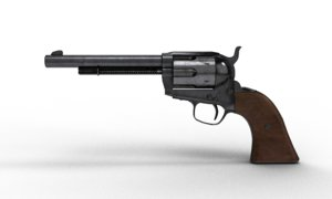 3D model old west gun