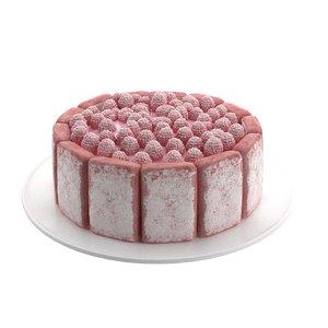 3D raspberry cake