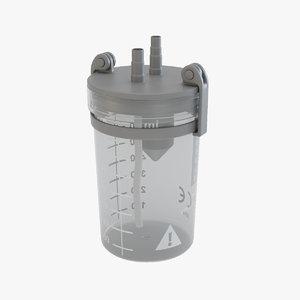 3D medical suction jar model