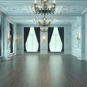 classic interior 3D model