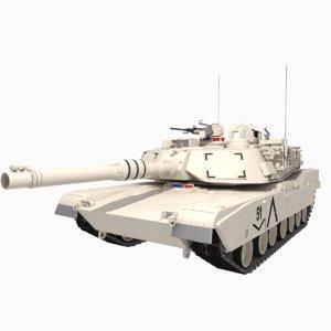 3D m1a2 abrams tank model