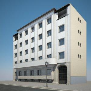 urban apartment building 3D