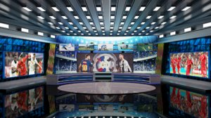 3D model real time sports studio