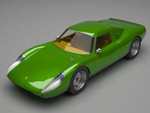 porsche carrera car 3D model