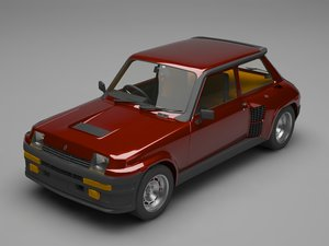3D renault 5 turbo model