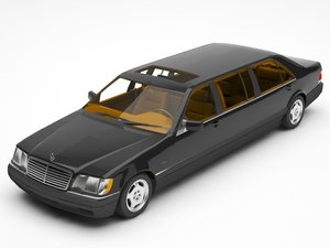 merceceds limosine 3D model