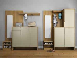 hall vestibule furniture set 3D model