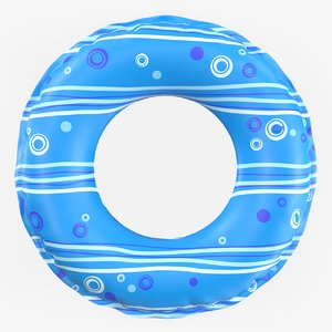 inflatable swimming pool float 3d model