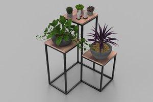 3D industrial flower