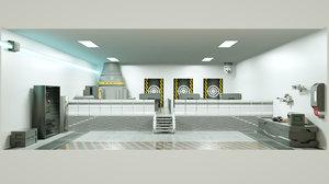 3D model room weapons shooting range