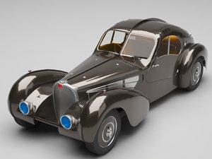 classic bugatti 3D