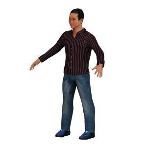 3D man character rig