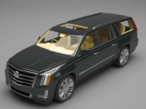 3D cadillac escalade model
