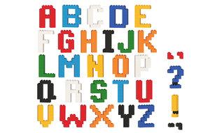lego brick alphabet 3D model