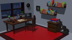 3D room lo-fi model