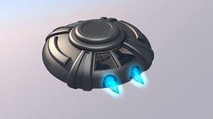 ufo space ship 3D