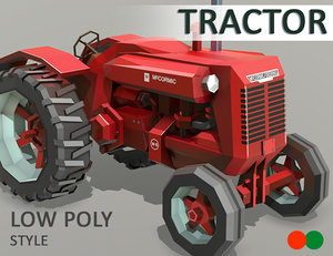 tractor style 3D model