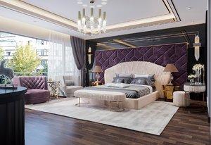 3D room bedroom model