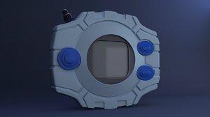 digivice digimon 3D model