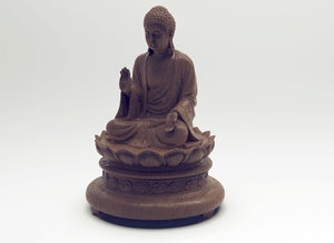 tian tan buddha statue 3D model