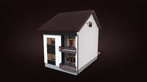 house gameready croatian 3D model