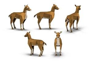 3D animations deer polys