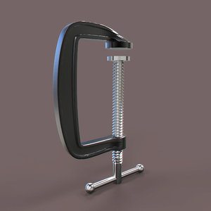 c-clamp printing 3D model