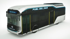 toyota sora bus 2020 3D model