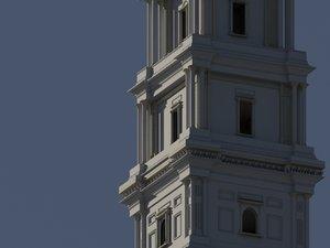 3D model architecture classic