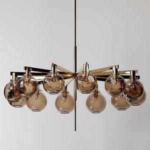 3D model hans-agne jakobsson brass twelve-light