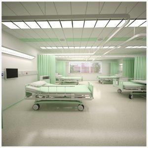 hospital ward scene 3D