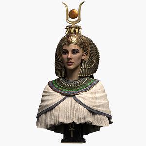 3D model egyptian queen