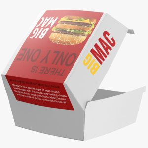 real mcdonald burger 3D model