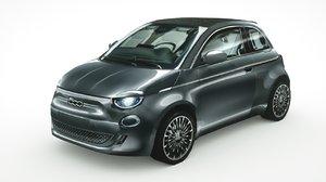 fiat 500 cabrio 2020 3D model