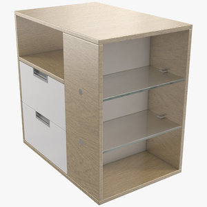 filing cabinet shelves 3D model