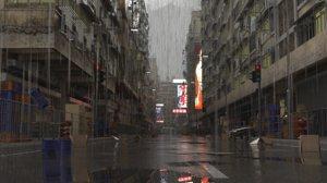 hong kong buildings dystopian 3D model