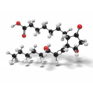 prostaglandine e1 c20h34o5 modeled 3D