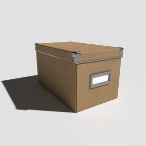 pbr office box small 3D model