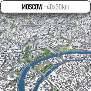 3D city moscow -