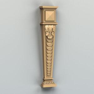 pilaster cnc intagli3d 3D model