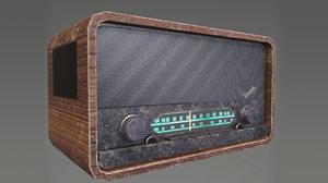 3D vintage radio electronic